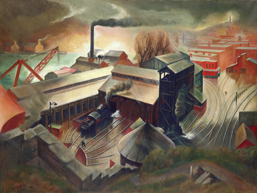 engine house and bunkers by austin mecklem
