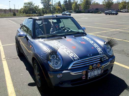 eyelash mini car small