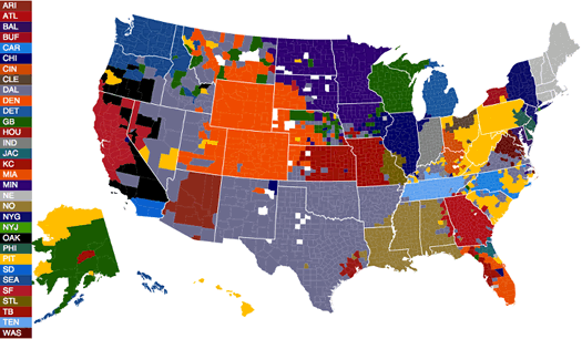 facebook nfl fan like data map