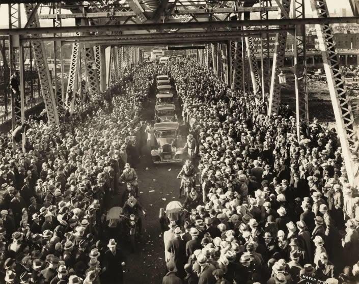 first Dunn Memorial Bridge opening 1933
