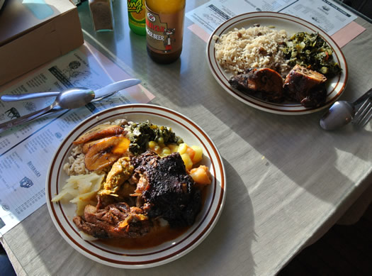 first choice caribbean troy two lunch plates