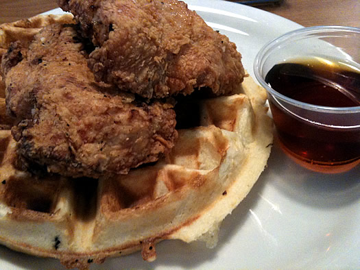 flying chicken troy chicken and waffles