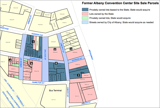 former convention center Albany site parcel map