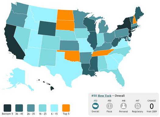 freedom in the 50 states 2013 map