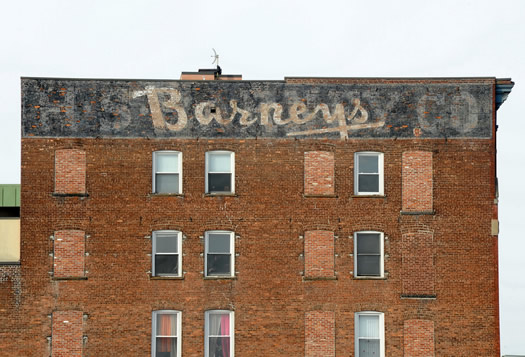 ghost sign in schenectady