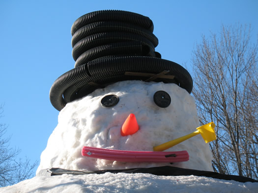 giant guilderland snowman face