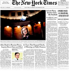gillibrand nyt front page 2010-12-23