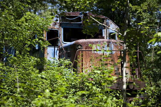 glenmont abandoned train