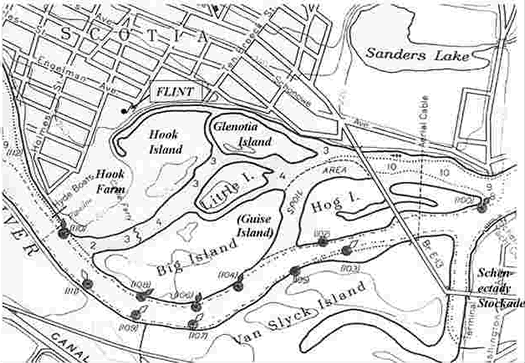 glenotia island map crmls