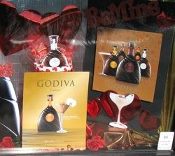 godiva liquor display