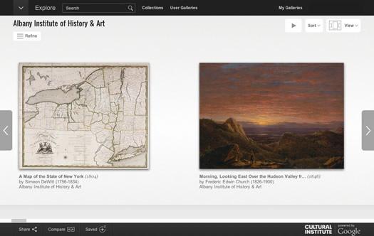 google art project albany institute screengrab