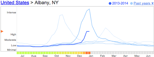 google flu trends albany 2014-01-16