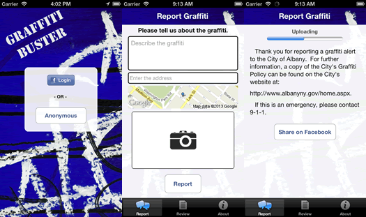 grafitti buster app screenshots