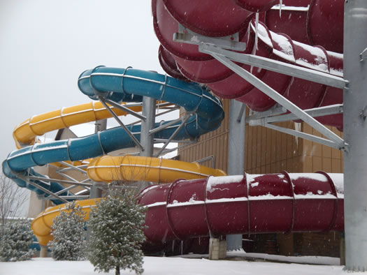 great escape water park winter exterior