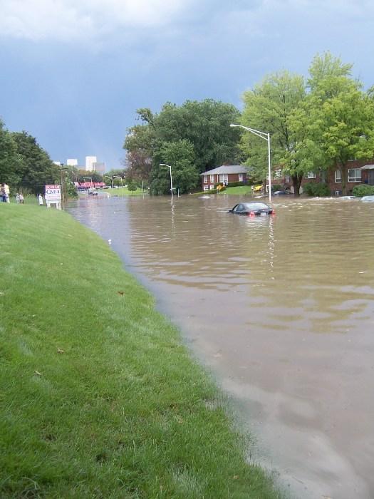 Hackett submerged