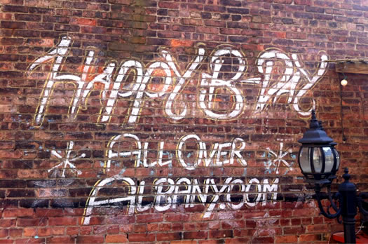 happy birthday aoa city beer hall wall