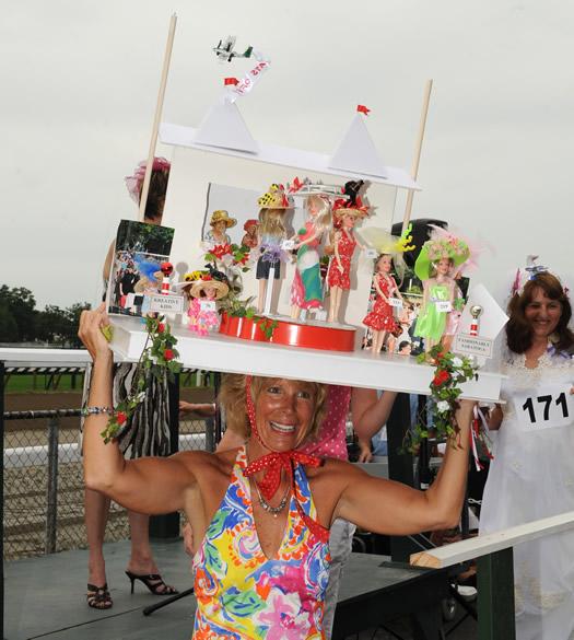 Saratoga Race Course hat contest winner 2010