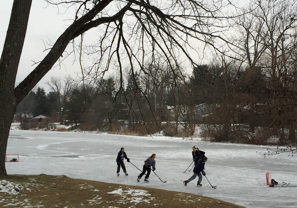 hockey game buckingham pond 2017-12-18
