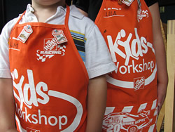 home depot kids smocks