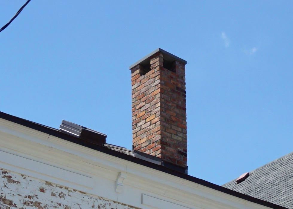 house chimney closeup