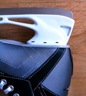 ice skate blade heel