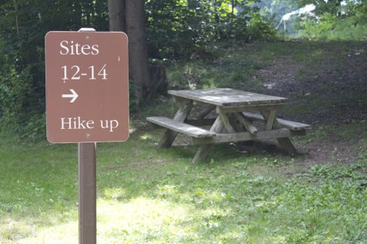camping signage and table.jpg