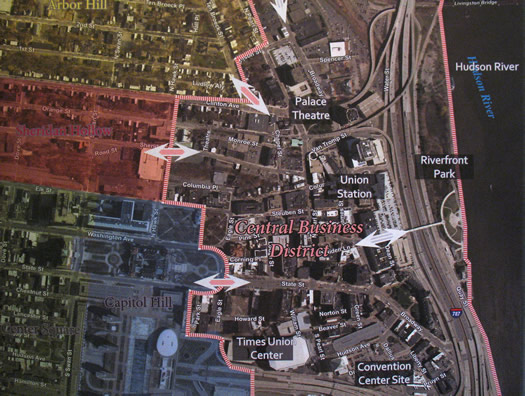 impact downtown albany map
