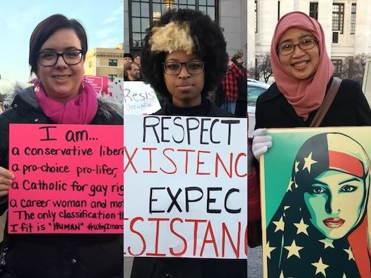 inaugurate resistance march Albany messages composite