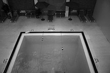 indoor pool black and white