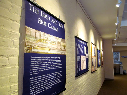 irish american museum erie canal exhibit