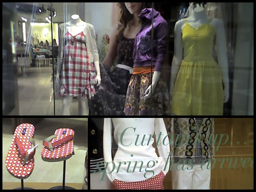 spring fashions at the mall