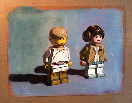 jennifer maher lego luke leia at Uncommon Grounds