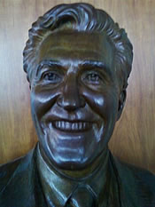 joe bruno bust airport closeup