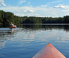kayaking adirondack pond