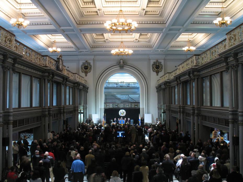 kiernan plaza albany inauguration event 2014-01-01