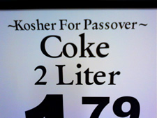 kosher for Passover coke sign