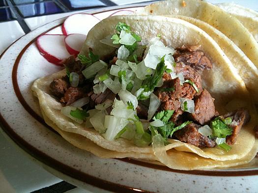 la mexicana pork tacos closeup