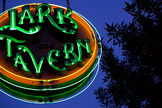 lark tavern neon sign