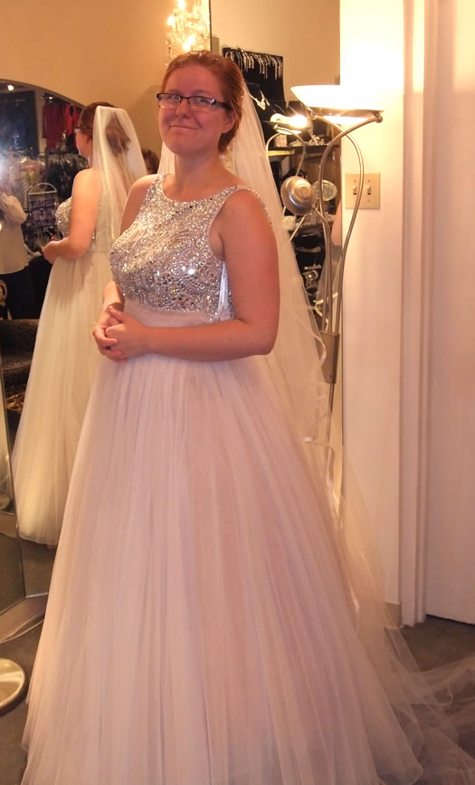 lauren wedding Apropos sherri hill dress