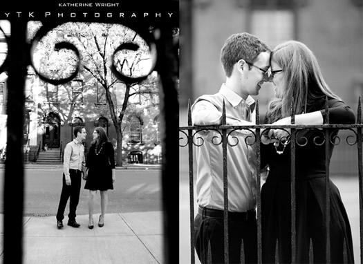 lauren wedding engagement photo b&w
