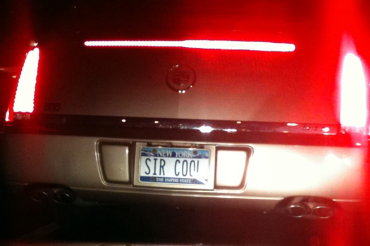 license plate sir cool