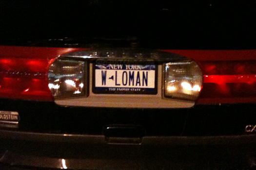 license plate w loman