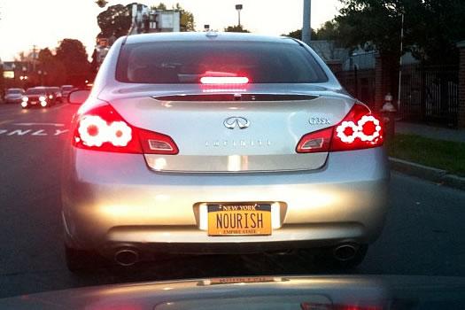 license plate nourish