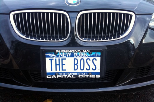 license plate the boss
