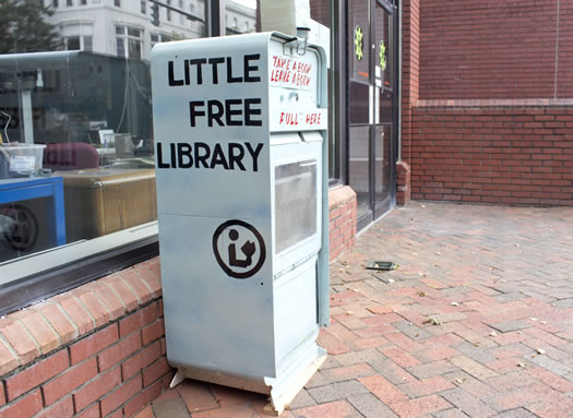 little free library outside TVCOG