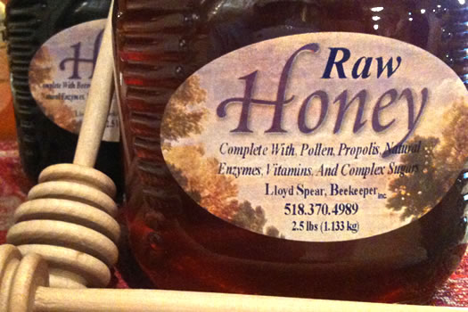 lloyd spear honey raw honey bottle