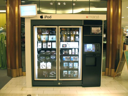 macys ipod vending machine