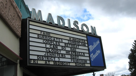 madison theater marquee