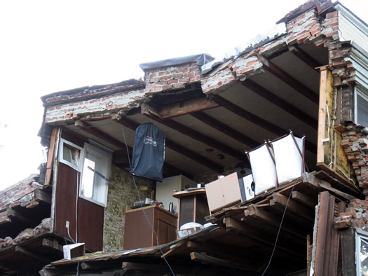 madison rowhouse collapse 1