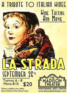 madison theater la strada poster
